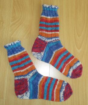 Unikat! Handgestrickte Socken Größe 26/27