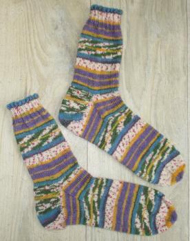 Unikat! Handgestrickte Socken Größe 44/45